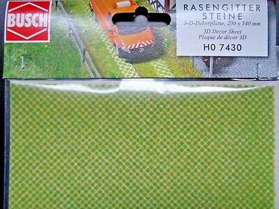 (228,21 €/m²) Busch 7430 Prato Pietre Griglia, 3-d - Decoro Lastra, 200 X 140 Mm, Nuovo-ine, 3-d-dekorplatte, 200 X 140 Mm, Neu It-it Mostra Il Titolo Originale