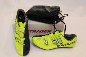 New-Bontrager-Men-039-s-XXX-Road-Cycling-Bike-Shoes-42-5-9-5-Carbon-Black-Yellow-LE