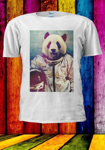 Astronaut Funny Panda Retro T-shirt Vest Tank Top Men Women Unisex 541