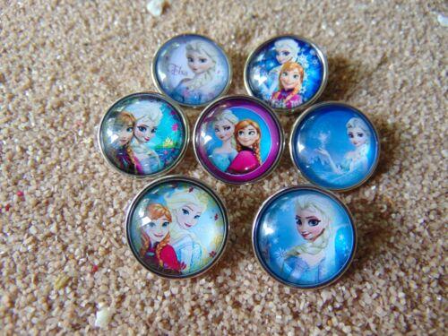 Frozen Elsa Anna Druckknopf Klick Button Wechselschmuck 18 mm Eiskönigin   Nr 6