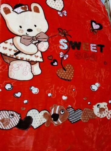 100x140cm 2ply Super Soft Warm Winter Mink Baby Kids Boy Girl Cot Bed Blanket