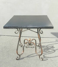 Ornate Metal Scrolls & Flourishes Spanish Style CARD TABLE Breakfast Nook Table