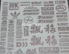 RC Car Truck RACING Drift DECALS Stickers METALLIC Aluminum Finish Logos Sponsor
