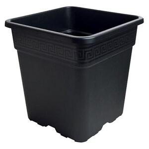 Image Is Loading Various Sizes Gro Pro Black Square Nursery Pots
