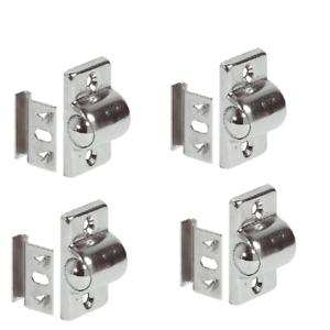 4-Stueck-Kugelschnaepper-Schnappverschluss-Moebelschnaepper-Stahl-Schrank-Verschluss