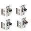4-Stueck-Kugelschnaepper-Schnappverschluss-Moebelschnaepper-Stahl-Schrank-Verschluss Indexbild 1