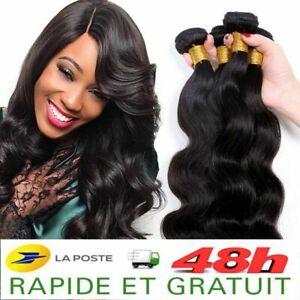 Tissage Bresilien Extension De Cheveux Humain 100 Naturel Virgin Remy 5a 100g Ebay