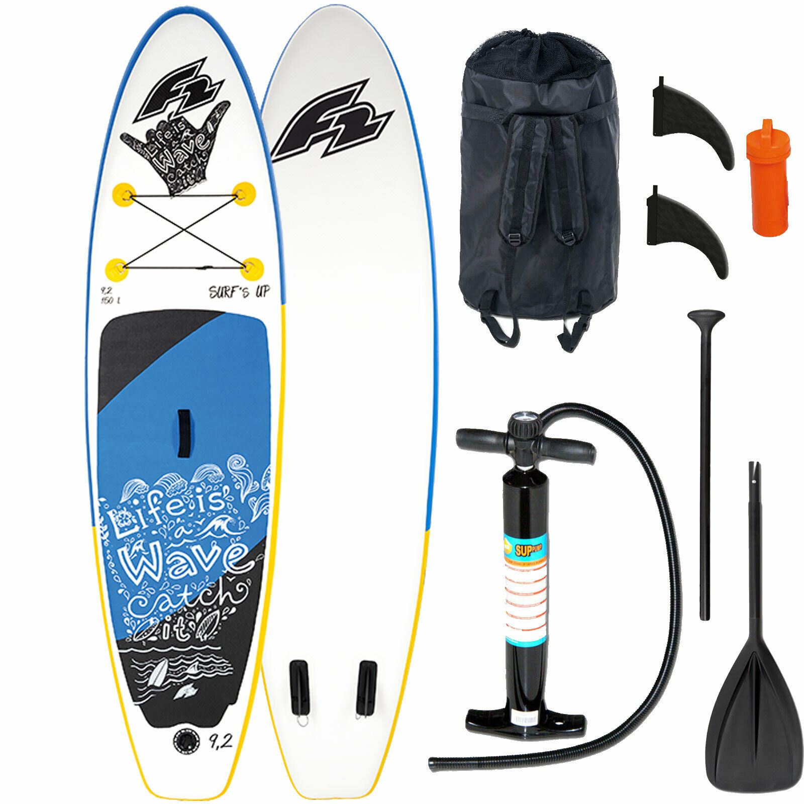 F2 Gonfiabile Surfs Up Bambini Ste Paddle Tavola Set ISup Paddletavola