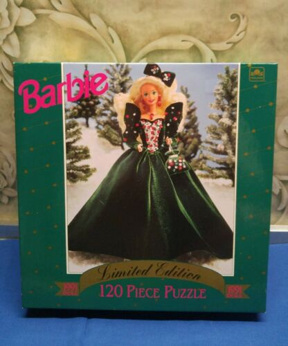 1993 LIMITED EDITION OF A 1991 HOLIDAY BARBIE PUZZLE 5660B BY GOLDEN UNOPENED