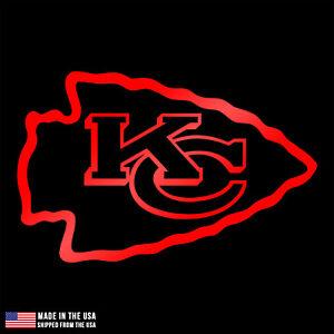 Kansas City Chiefs Logo Vinyl Sticker Car Laptop Room