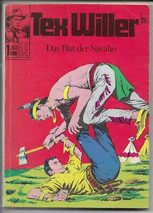 Tex WILLER nº 3 de 1971-z1-2 Western Comic-Taschenbuch BSV a. Galleppini