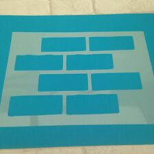 Brick Wall Stencil Large  A3 Craft Bricks  Sheet Airbrush Wall Sign Mylar