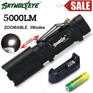 5000LM-Zoom-Q5-LED-14500-AA-Flashlight-Focus-Torch-Light-Battery-Charger