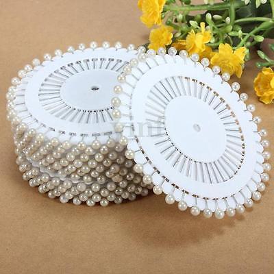 480Pcs Round Head Dressmaking Wedding Pearl Decorating Sewing Pins Craft White