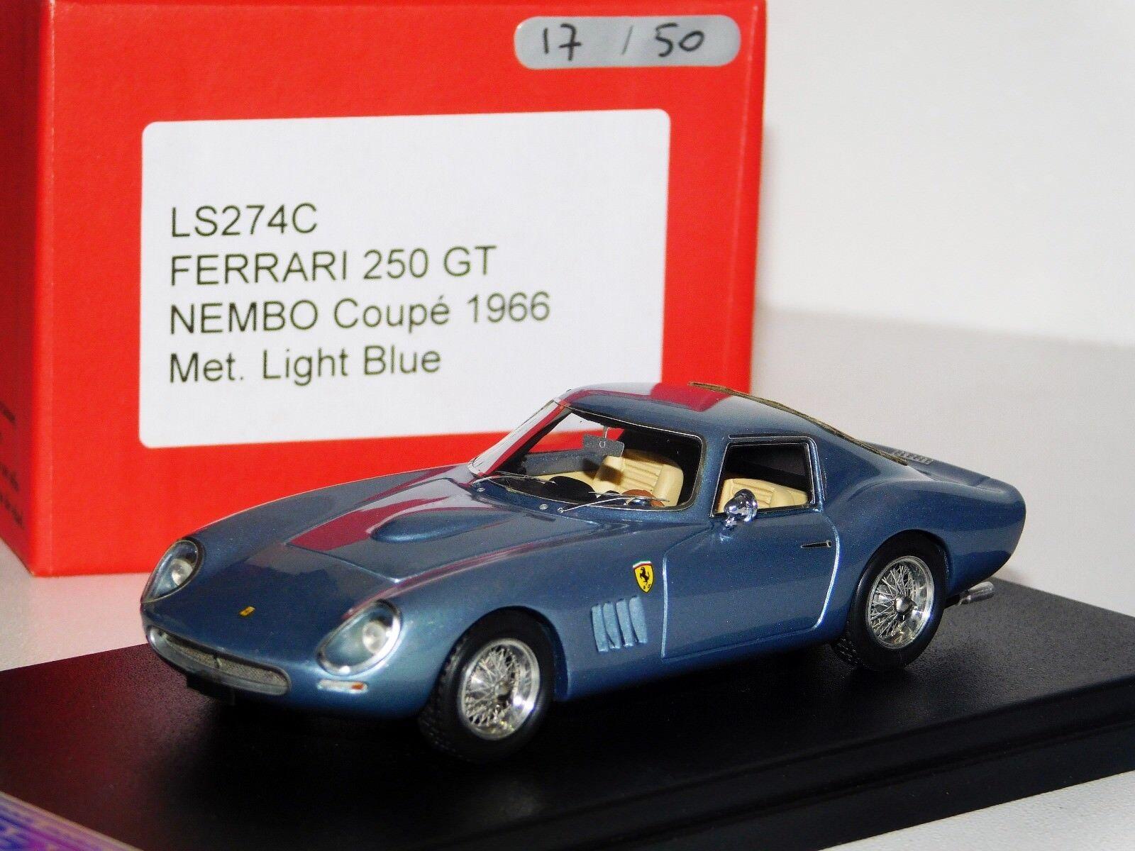 Ferrari 250 GT NEMBO COUPE 1966 LIGHT Met. bleu Looksmart Lim. 1 50 LS274C 1 43