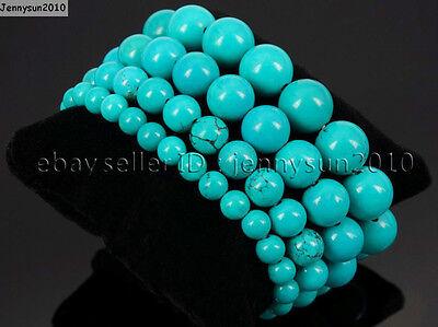 Handmade 10mm Natural Gemstone Round Beads Stretchy Bracelet Healing Reiki