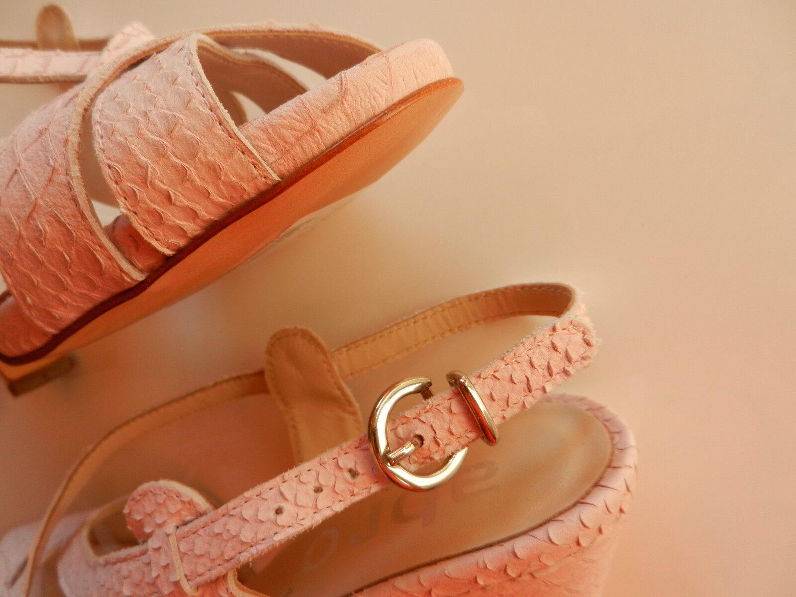 ABRO Damenschuhe Optik Ledersandalette Sandalette * Reptil Optik Damenschuhe * Rosa * Gr. 37 NEU 322f62