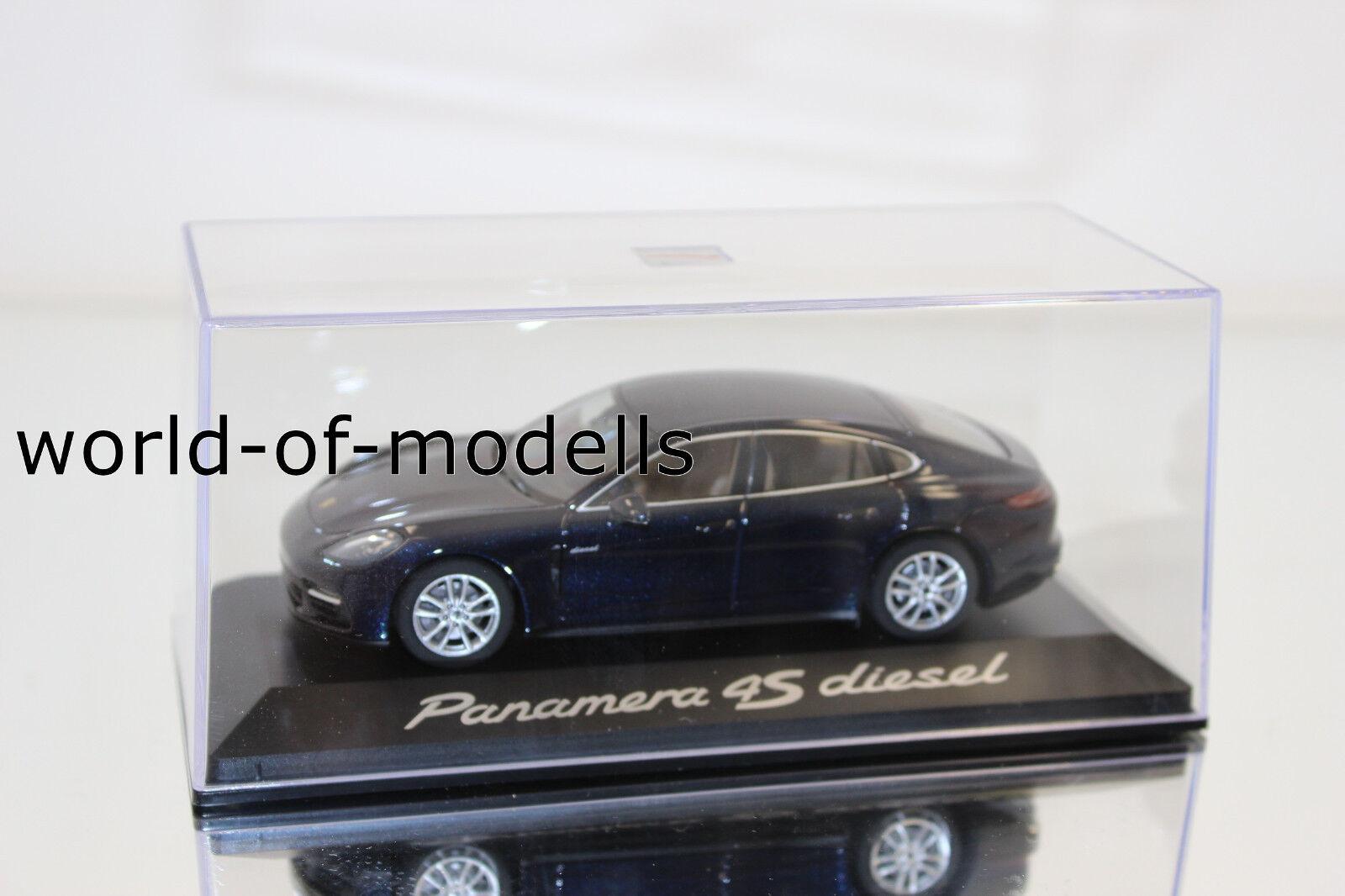 Herpa wap0207230g Panamera Diesel 4s 1 43 Dark bluee New in Original Box