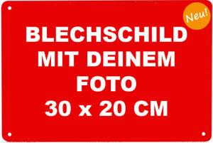 Blechschild mit EIGENEM FOTO bedruckt 30 x 20 cm Metallschild Vintage Nostalgie