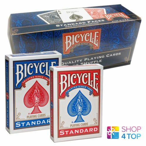 12 DECKS BICYCLE RIDER BACK NO FACE BLANK MAGIC TRICKS CARDS rot AND Blau USPCC