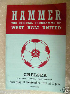 1971-WEST-HAM-UNITED-v-CHELSEA-11th-Sept-League-Division-One