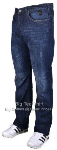 "Big Mens Dk Auth Kam Bullit 30/"" IL Stretch Jeans 42 44 46 48 50 52 54 56 58 60"