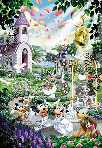 Japan Jigsaw Puzzle Tenyo Disney Minnie Mickey Mouse Church Wedding ...