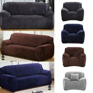 Image Is Loading Easy Fit 1 2 3 Seater Thick Plush