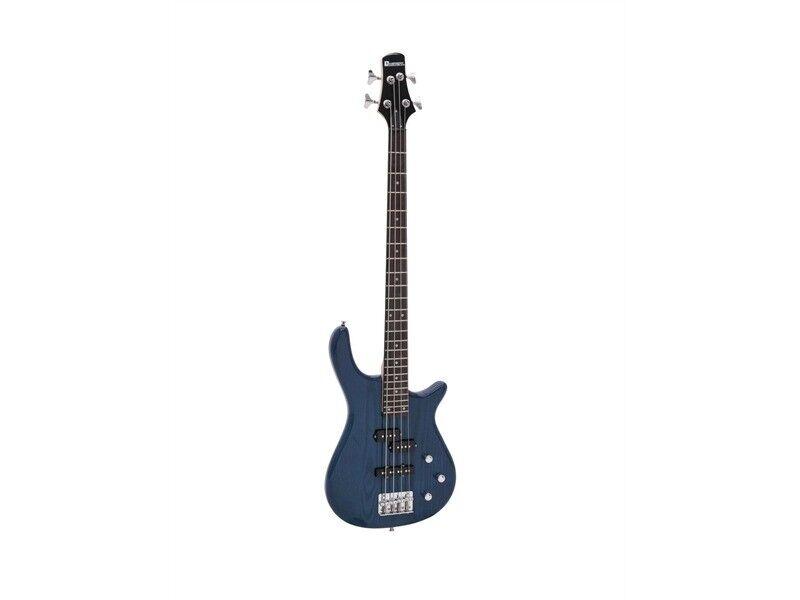 DIMAVERY SB-321 E-Bass, blau glänzend