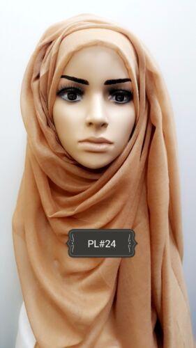 Hijab print plain head scarf maxi chiffon jersey crimp cotton viscose PL#24