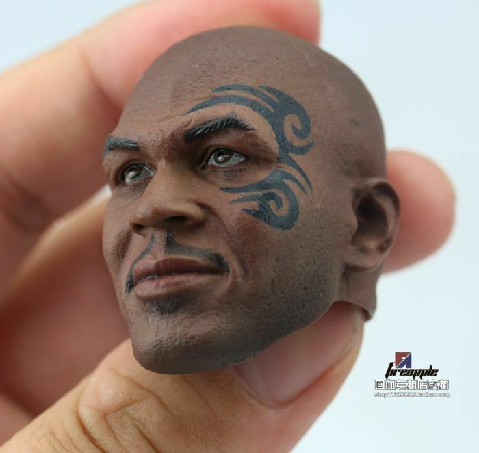 1 1 1 6 Mike Tyso Tattoo Pattern Head Sculpt Boxing Champion For 12'' Action Figure 3d3251
