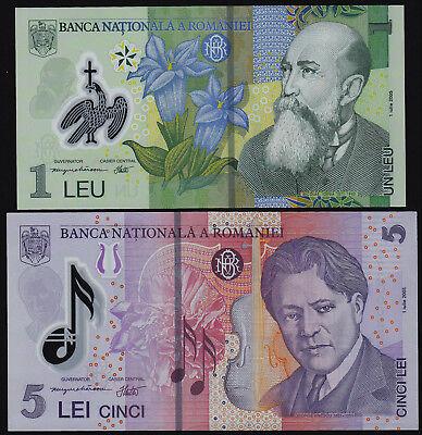 Romania 5 Lei p-118h 2017 UNC Polymer Banknote