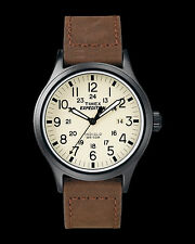 TIMEX T49963 Men's Expedition 'Scout' Leather Strap Watch (New in Box; $50+)