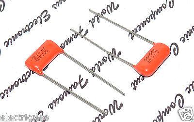 2pcs SPRAGUE 0.1uF 100V 10/% Orange Drop Radial Film Capacitor-For Audio