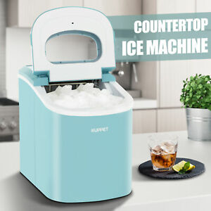 26-LBS-Portable-Electric-Ice-Maker-Countertop-Ice-Cube-Compact-Machine-Blue