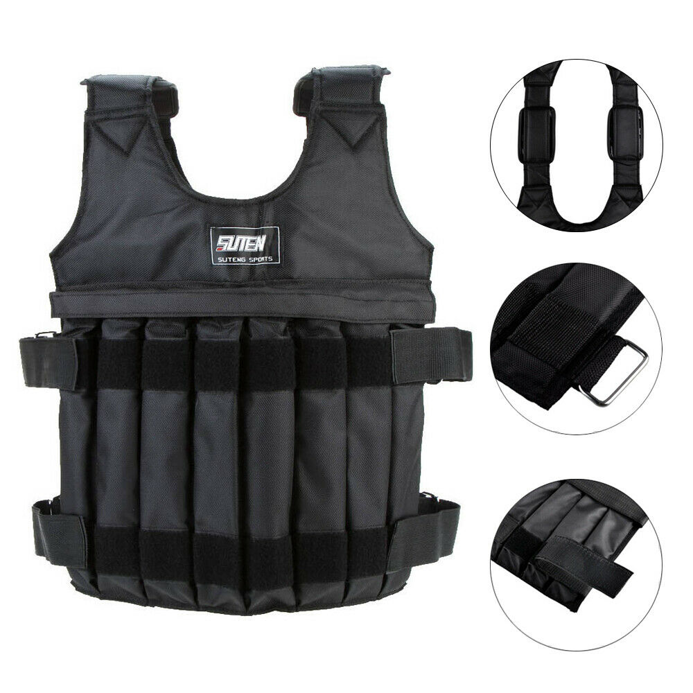 Adjustable Weight Vest 44LB 110LB Weighted Workout Exercise Training Empty
