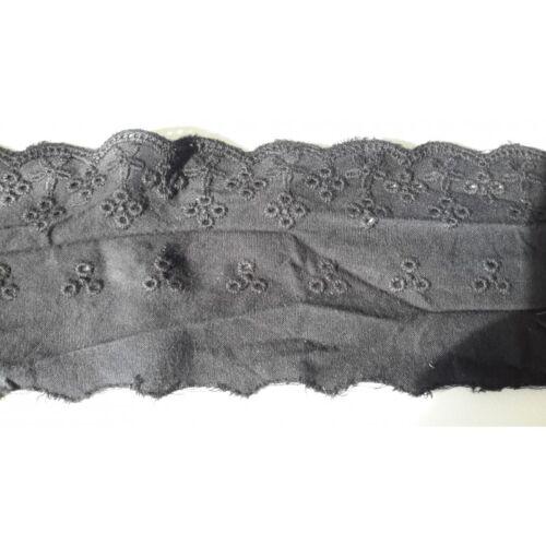 9687 Metri 1 circa di Passamaneria in pizzo sangallo nero alta cm 8