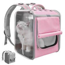 Mascota Perro Gato Portador Mochila Bolsa de viaje al aire libre grandes de malla Cajón Para Bicicleta De Senderismo