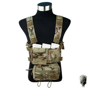 TMC-Modular-Lightweight-Chest-Rig-Full-Set-Chassis-w-5-56-Mag-Pouch-Military