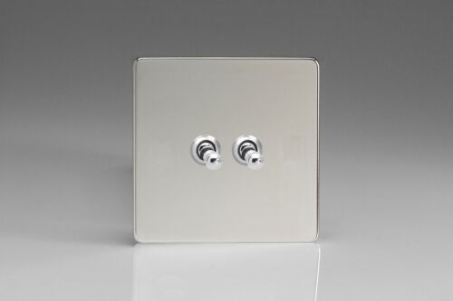 Varilight Screwless Polished Chrome Toggle Dolly Light Switch 1 2 3 4 Gang