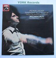 ASD 3184 - MENDELSSOHN - Symphony No 3 MUTI New Philharmonia Orch - Ex LP Record