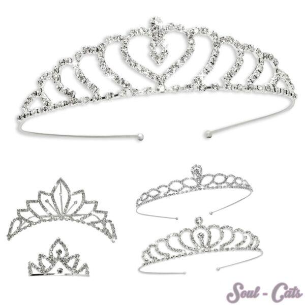 Unparteiisch 1 Wunderschönes Diadem Straßsteine Braut Kopfschmuck Haarreif Krone Silber Chinesische Aromen Besitzen