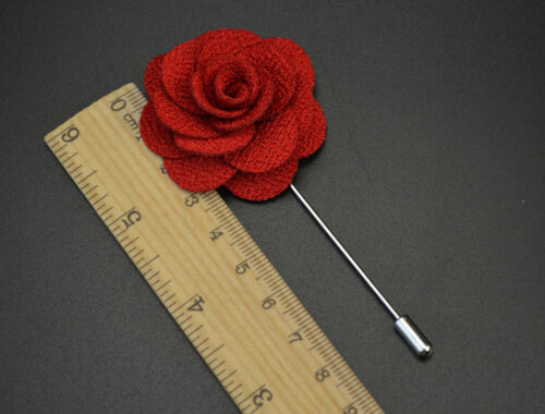 Women Men Brooch Lapel Pin Camellias Flower Boutonniere For Suit  1pcs