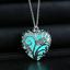 New Magical Fairy Glow in the Dark Pendant Locket Heart Luminous Necklace FR