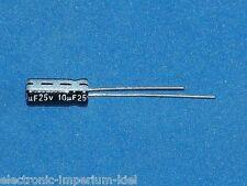 Elko, radial, 10µF (10uF) / 25V / 85°C, 25 Stk. (Ø5x11mm)