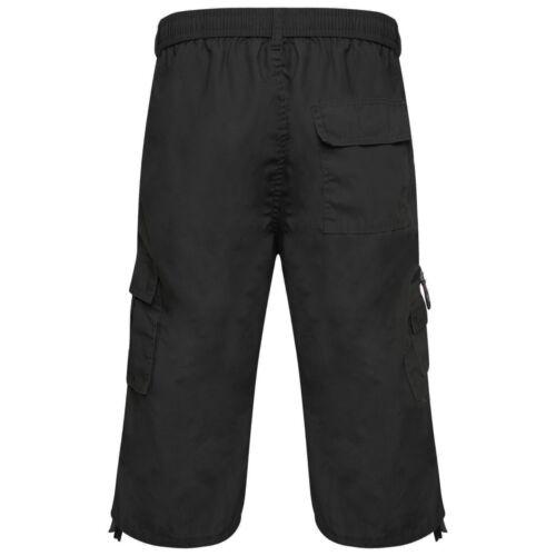 Da Uomo sotto al Ginocchio Combat Cargo Vita Elasticizzata Pantaloncini Taglia 3//4 PANTALONE