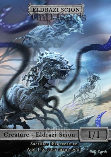 3x Eldrazi Scion #1 Custom Altered Tokens MTG Battle for Zendikar