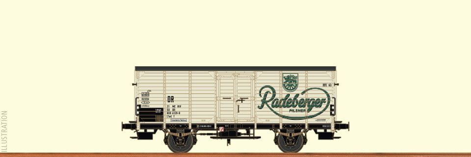 Brawa 49046 Covered Goods Wagon G10 Radeberger Dr Ep.iv New