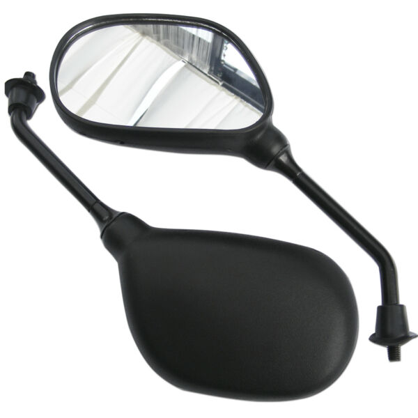 2x M8 Universale 8mm Specchio Scooter Moto Specchietto Retrovisore Nero Quad