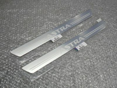 VAUXHALL ASTRA VXR RACING FRONT DOOR SILL NAMEPLATE COVERS SET OF 2 GENUINE NEW